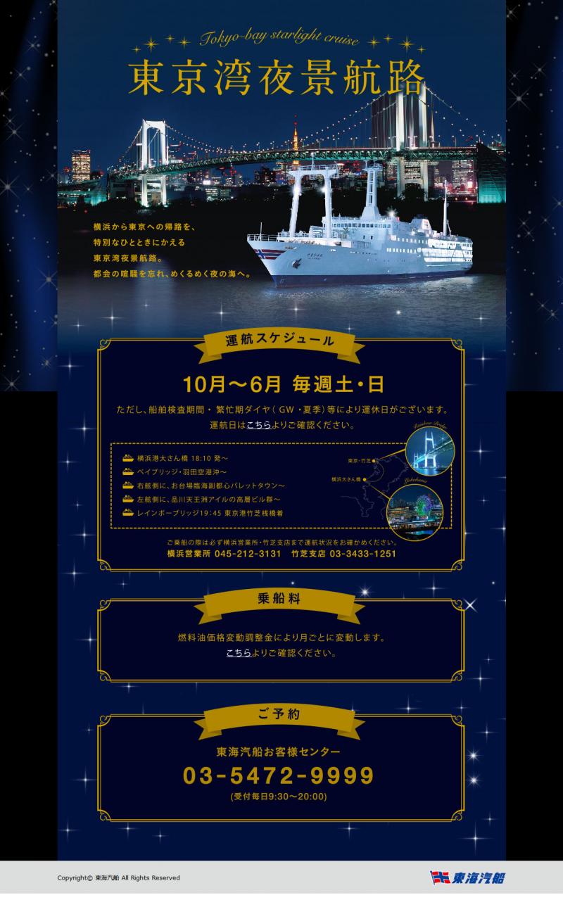 東海汽船 東京湾夜景航路 さるびあ丸 2017