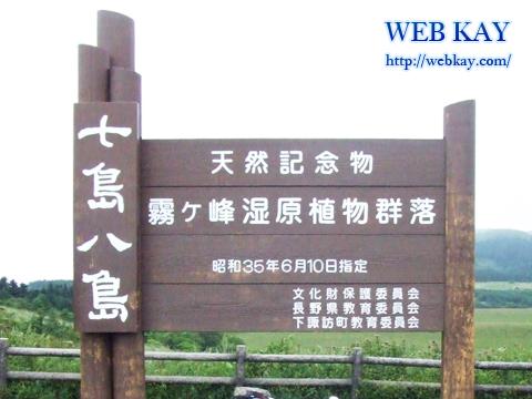 七島八島(八島湿原) 長野県下諏訪町 霧ヶ峰