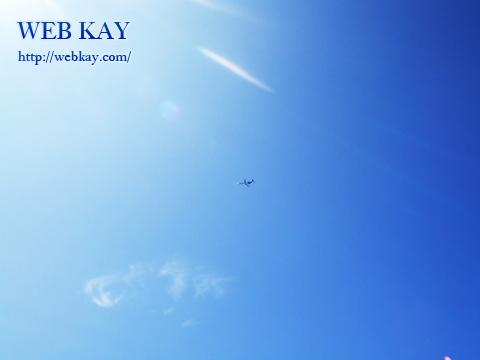 ダイヤモンドヘッドから観た飛行機