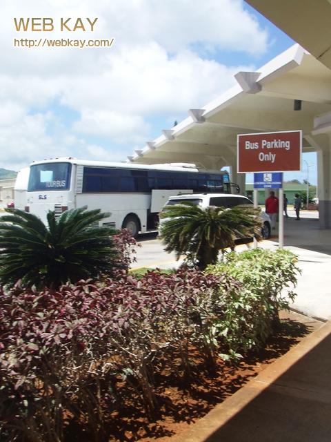 サイパン 空港前 バス停