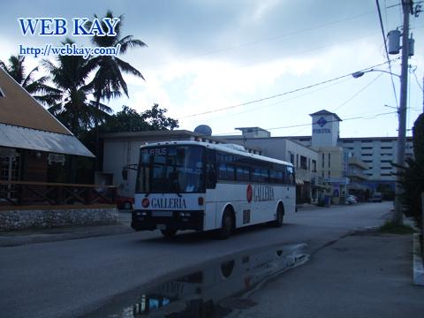 サイパン ガラパン 散策 バス