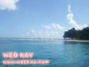 島入り口から見えたマニャガハ島のビーチ