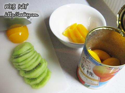 カキ氷 材料 黄桃 キウイ