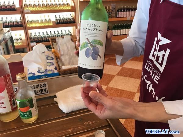 試飲 Tasting はこだてわいん葡萄館 函館ワインぶどう館 hakodate wine budokan