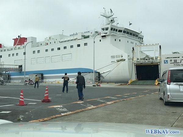 車 乗船 車載 八戸港フェリーターミナル シルバーフェリークイーン hachinohe ferry terminal silver ferry queen