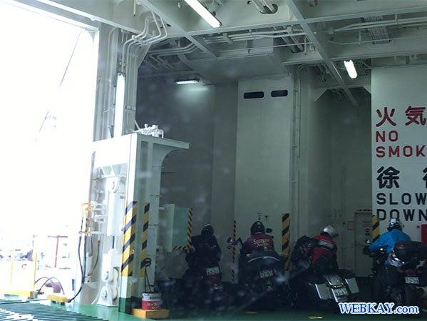 バイク オートバイ 大間到着 フェリー大函丸 だいかんまる 津軽海峡 tsugarukaikyo ferry daikanmaru ship standard 船旅