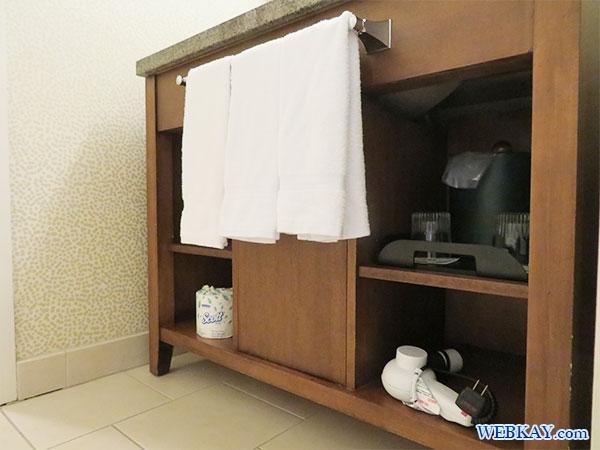 洗面台 バスルーム Bathroom ワイキキ・ビーチ マリオット・リゾート&スパ Waikiki Beach Marriott Resort & Spa ハワイ ホテル 感想 施設紹介 口コミ hawaii