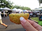 FRIED GREEN TOMATOES ハワイ KCCファーマーズマーケット hawaii KCC saturday Farmer's Market 朝市