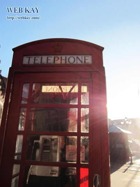 チェスター市内 赤い電話ボックス