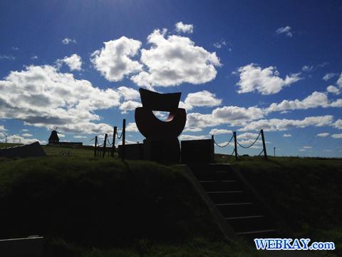 宗谷岬平和公園 大岬中学校跡地の碑