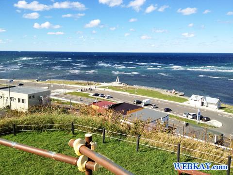 宗谷岬公園内にある大岬旧海軍望楼からみた宗谷岬