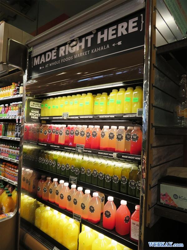 ORGANIC オーガニック ジュース ホールフーズ hawaii wholefoods ハワイ ランチ デリ