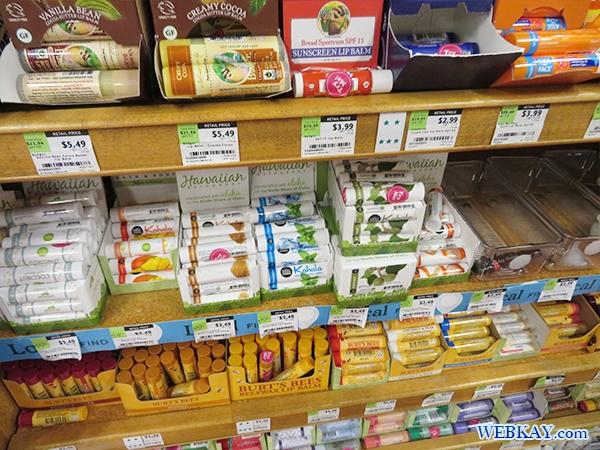 リップクリーム ホールフーズ hawaii wholefoods ハワイ オアフ島 スーパーマーケット