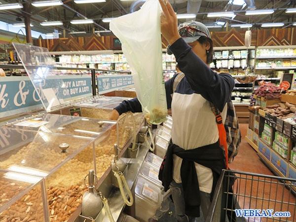バルク 量り売り ホールフーズ hawaii wholefoods ハワイ オアフ島 スーパーマーケット