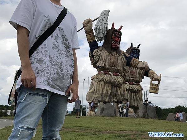 巨大なまはげ Huge Namahage 男鹿 akita japan Oga 見どころ ビュースポット