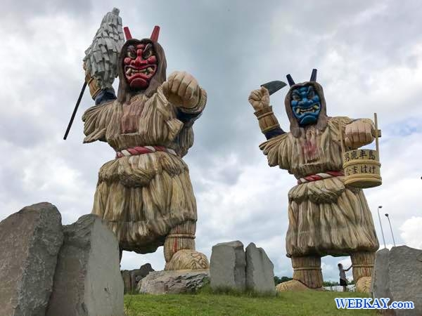 巨大なまはげ 男鹿総合観光案内所 Huge Namahage akita japan Oga Tourist Information