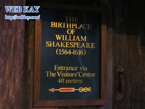 THE BIRTHPLACE OF WILLIAM SHAKESPEARE (1564-1616)