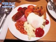 ホテル「ホリデイ・イン・グロスター」の朝食