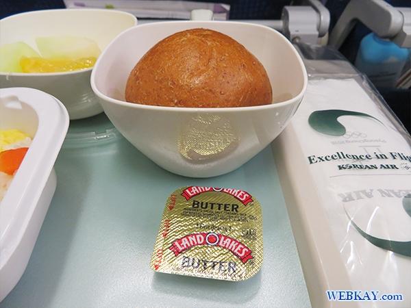 機内食 パン 大韓航空 KAL 成田 ハワイ 대한항공 ホノルル hawaii honolulu KOREAN AIR LINES
