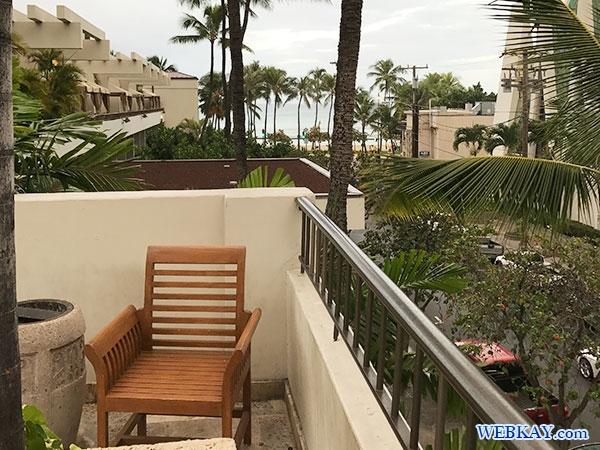 喫煙所 Smoking Area ワイキキ・ビーチ マリオット・リゾート&スパ Waikiki Beach Marriott Resort & Spa ハワイ ホテル 感想 施設紹介 口コミ hawaii