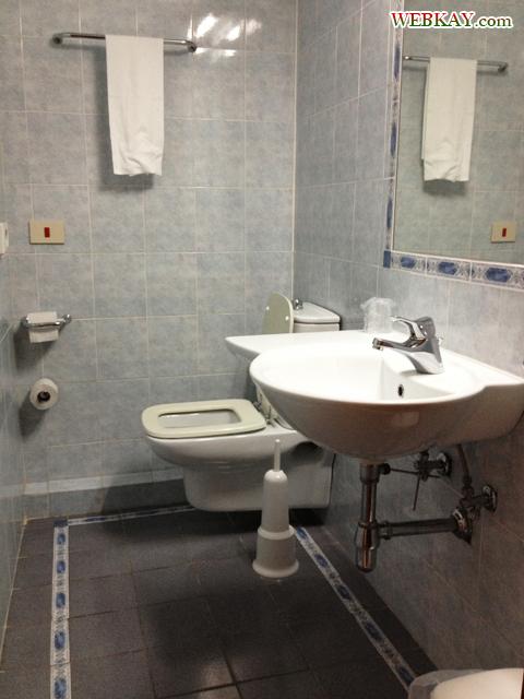 トイレと洗面台 ホテル デルタ フローレンス 情報 Hotel Delta Florence カレンツァーノ(Calenzano) イタリア旅行 口コミ&感想