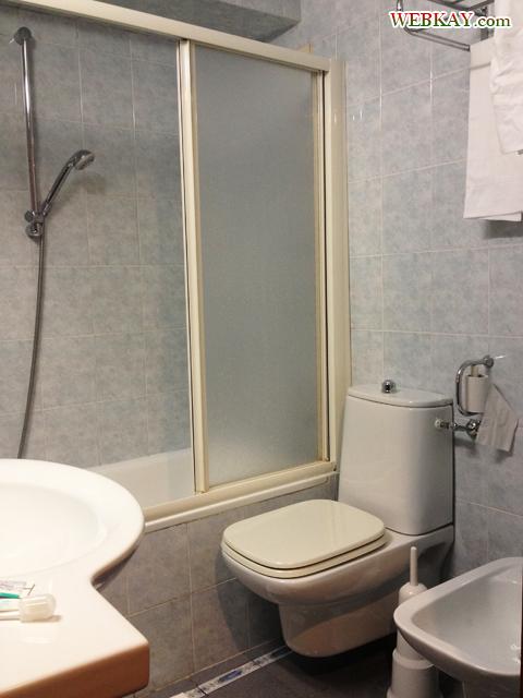 風呂場 シャワールーム ホテル デルタ フローレンス 情報 Hotel Delta Florence カレンツァーノ(Calenzano) イタリア旅行 口コミ&感想