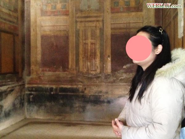 フレスコ画 VILLA DEI MISTERI 秘儀荘 ポンペイ Pompeii 世界遺産 italy