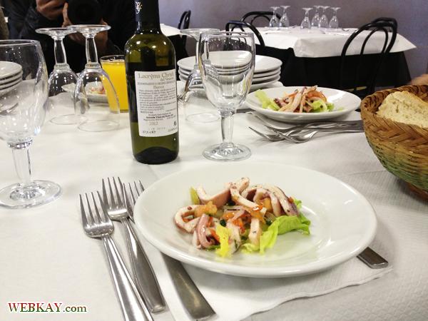 前菜 いか ランチ 食事 食べログ オプショナルツアー参加 ポンペイ Pompeii 一日観光