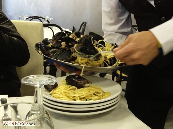 貝のパスタ ランチ 食事 食べログ オプショナルツアー参加 ポンペイ Pompeii 一日観光