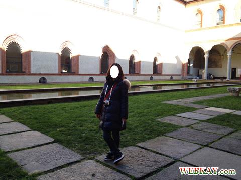 スフォルツェスコ城 Castello Sforzesco ミラノ MILANO 散策 イタリア旅行 観光スポット
