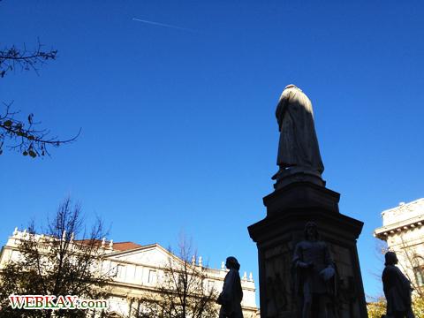 スカラ座 Teatro alla Scala レオナルド・ダ・ヴィンチ像 LEONARDO ミラノ MILANO 散策 イタリア旅行 観光スポット