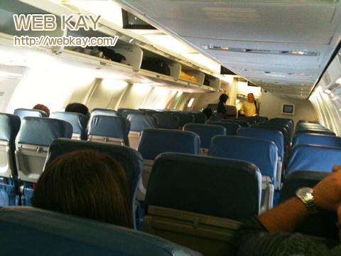 サイパン デルタ 飛行機内