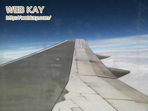 サイパン 飛行機 デルタ 上空