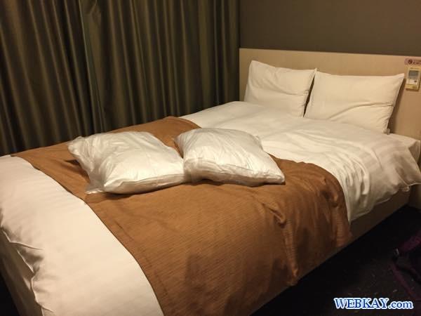 ベッドルーム ドーミーイン北見 dormy inn kitami ホテル 宿泊 北見 乾燥機 部屋写真 口コミ 利用した感想