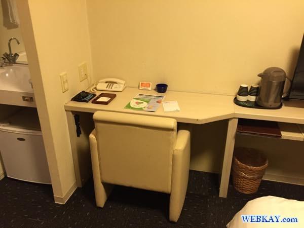 テーブルと椅子 ドーミーイン北見 dormy inn kitami ホテル 宿泊 北見 乾燥機 部屋写真 口コミ 利用した感想