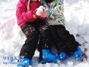 白馬さのさかスキー場 雪遊び
