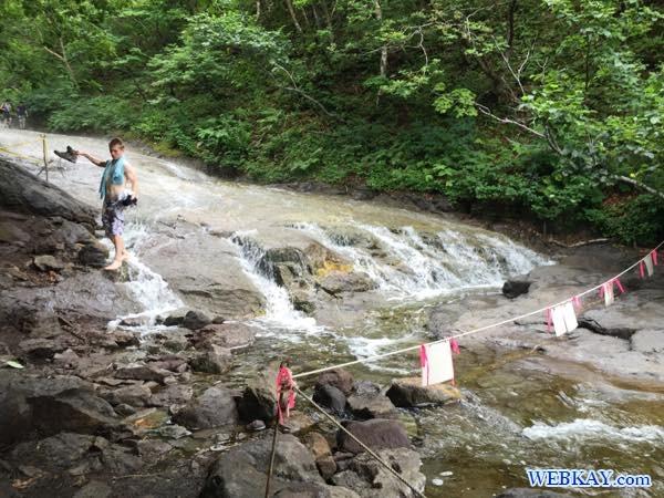 世界自然遺産 北海道 知床 カムイワッカ湯の滝までの道 kamuywakka waterfall