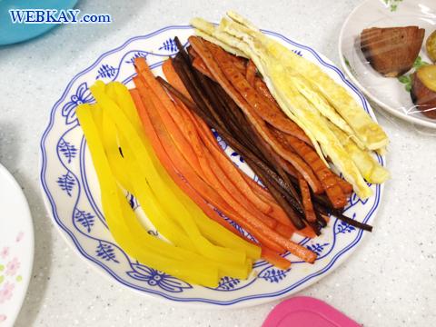 具材 キンパの作り方 김밥 韓国 家庭料理