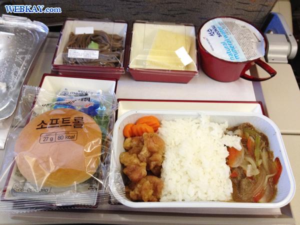 機内食 アシアナ航空 ASIANA AIRLINES  仁川国際空港