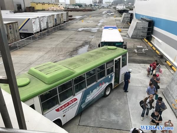バス 乗船 八戸港フェリーターミナル シルバーフェリークイーン hachinohe ferry terminal silver ferry queen