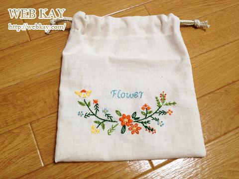 Flower刺しゅう ポーチ