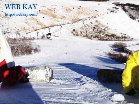 車山高源スキー場 ゲレンデ 30度以上の斜度