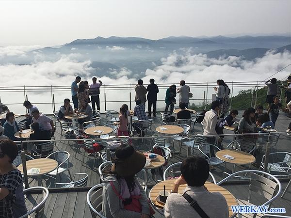 ゴンドラで星野リゾートへ下山 トマムの雲海テラス hokkaido tomamu sea of cloud