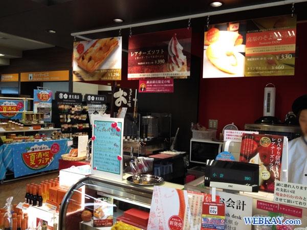 アイスクリーム レアチーズソフト ice cream 諏訪湖SA 上り suwako Service Area Highway 食べログ