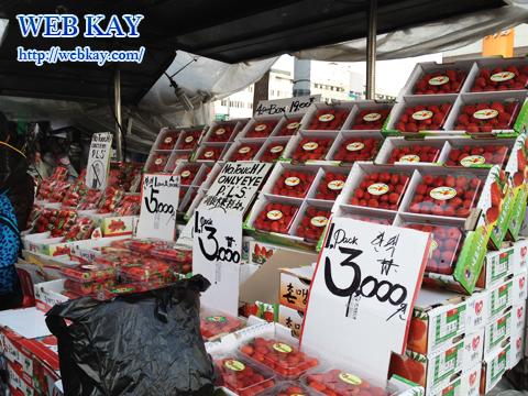 東大門市場 ショッピングモール いちご