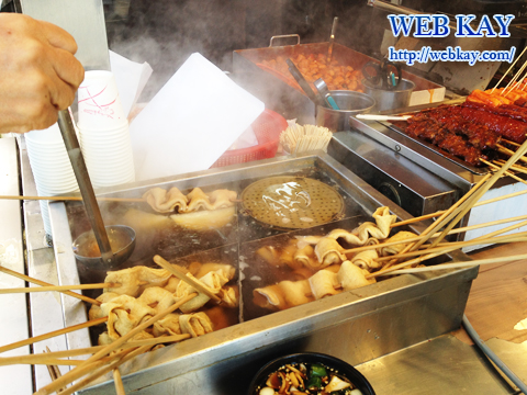 韓国ソウル市内 市場 屋台 立ち食い おでん
