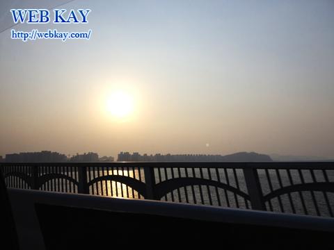 金浦国際空港 キンポ ソウル市内 近い 景色