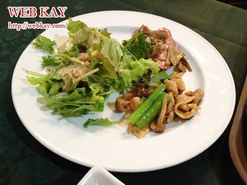 コルチナ グリーンプラザ白馬 バイキング 夕食 サラダ