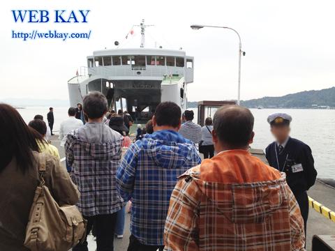 厳島神社 世界文化遺産 宮島 大鳥居 宮島行き船
