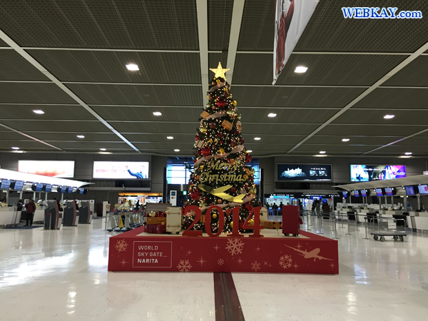 クリスマスツリー 成田国際空港 チェジュ航空 Jeju airlines 成田